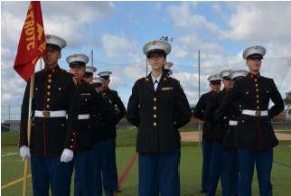Picture of Marine Corps Junior ROTC cadets
