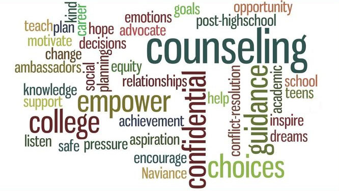 Graphic of Counseling buzz words